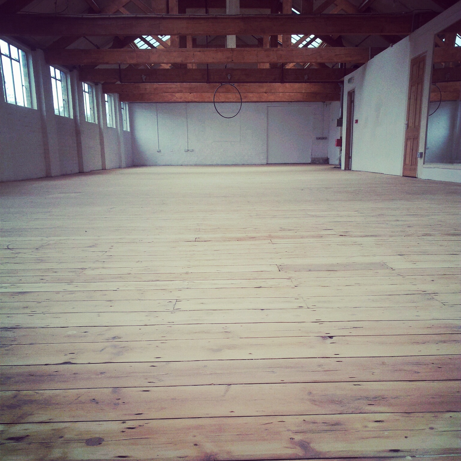 wood floor sanded dance studio leicester leicestershire flight fitness