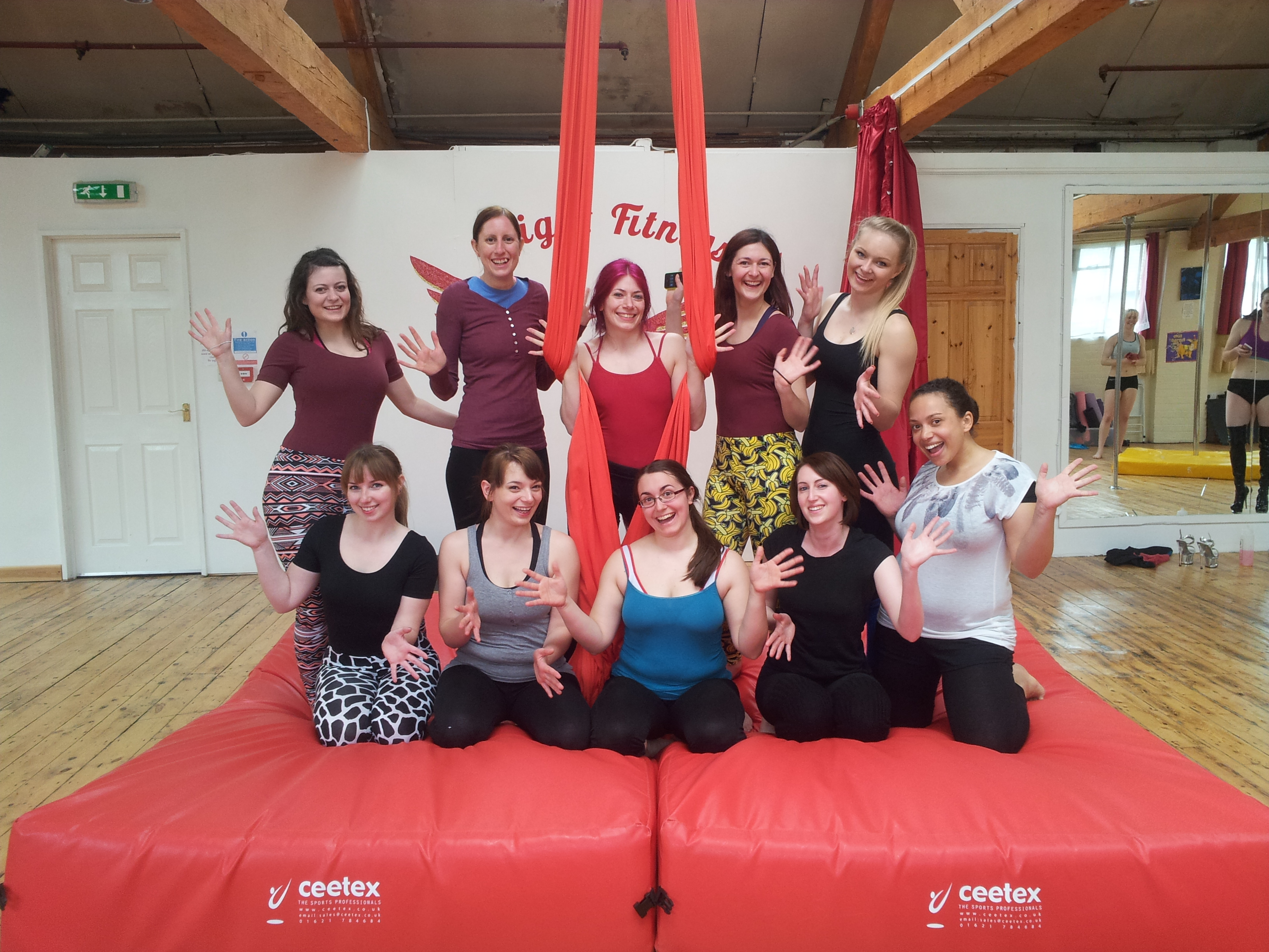 Aerial silks classes Leicester flight fitness